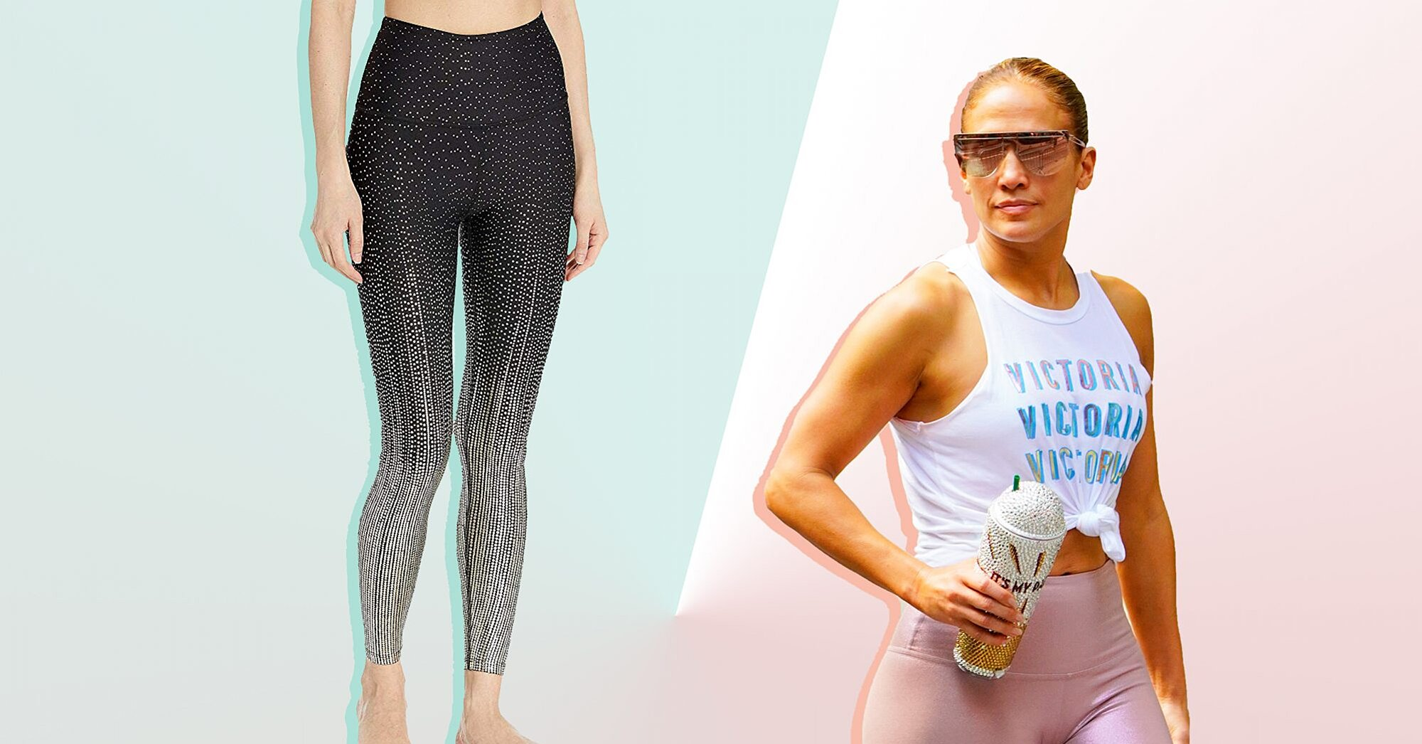 Jennifer Lopez Just Wore Beyond Yoga's Drip Drop Leggings