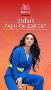 Best Indian online shopping App Myntra- brand Ambassador