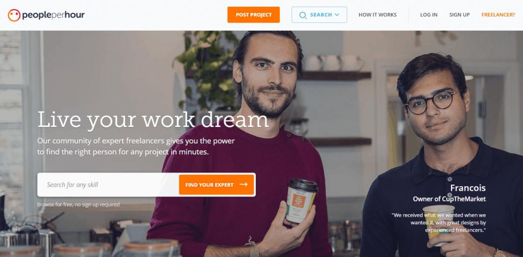 Freelance site- Peopleperhour